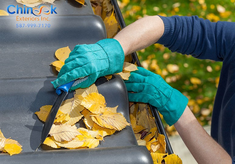 spring cleaning gutters calgary